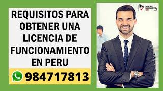 Download Requisitos para obtener una licencia de Funcionamiento - Perú Video