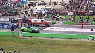 Download Lamborghini vs FARM TRUCK DRAG RACE ( STREET OUTLAWS Video