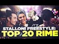 Download STALLONI FREESTYLE: TOP 20 RIME Video