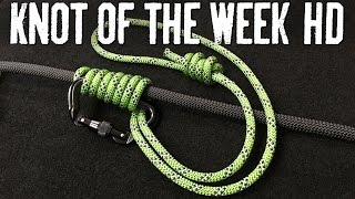 Download Ascend a Wet or Icy Climbing Rope with the Bachmann Knot - ITS Knot of the Week HD Video
