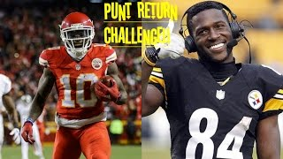Download WHO CAN GET A PUNT RETURN TD FIRST?!? TYREEK HILL VS ANTONIO BROWN!! THEY'RE SO FAST!! Video