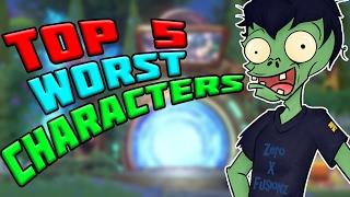 Download TOP 5 WORST CHARACTERS?! Plants vs Zombies Garden Warfare 2 Video