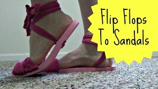 Download How To Recycle Flip Flops Into Sandals | Pinterest Project | Jendi's Journal Video