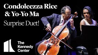 Download Yo-Yo Ma and Condoleezza Rice Perform Surprise Duet at The Kennedy Center Video