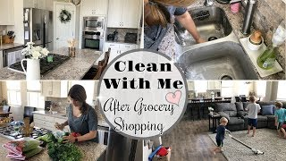 Download CLEAN WITH ME AFTER GROCERY SHOPPING :: KITCHEN CLEANING MOTIVATION :: SAHM CLEANING ROUTINE 2018 Video