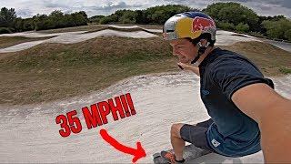 Download ELECTRIC SKATEBOARD VS BMX TRACK!!? Video