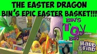Download Spike the Easter Dragon Hides Wonka Hard 2 Find Eggs! Bin's EPIC Easter Basket! by Bin's Toy Bin Video