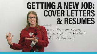Download Find a NEW JOB in North America: Cover Letter & Resume Advice Video