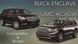 Download Comparing the 2017 Buick Enclave Premium and GMC Acadia Denali Video