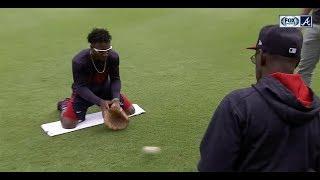 Download Chopcast LIVE: Ron Washington runs Braves rookie Ozzie Albies through fielding drills Video