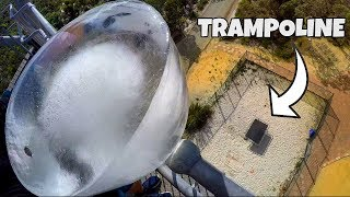 Download GIANT ICE BLOCK Vs. TRAMPOLINE from 45m! Video