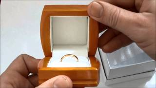 Download UNBOXING NEW LUXURY JEWELLERY RING BOX ANTIQUE LEATHER WOODEN WOOD BOX Video
