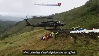 Download Audio of pilot of doomed Colombian flight, desperately trying to land before the plane crashed. Video