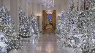 Download Melania Trump criticized over 'cold and creepy' White House Christmas decorations Video