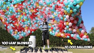 Download I Flew Using Only Balloons AND Leaf Blowers Video