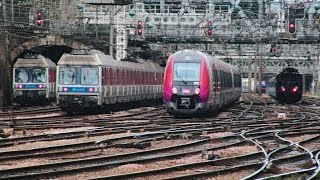 Download 凄い パリの電車ラッシュアワー + 250 Trains !! Incredible Railway Rush Hour, St Lazare Paris Video