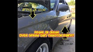 Download Pearl 2K clear over cheap spray can tractor paint (Beautiful results) Video