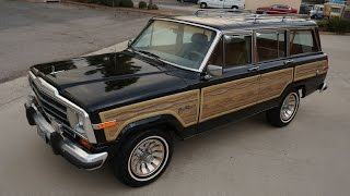 Download Buy a Jeep Grand Wagoneer SJ Woodie For Sale Woody Classic V8 Review Video