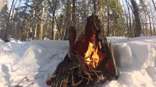 Download Solo Winter Camping - Guskewau Lake - Feb 2015 Video