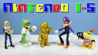 Download World of Nintendo Action Figures Series 1-5 Gold Mario Cat Luigi Bowser Jr Video