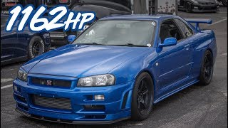 Download 1162HP Skyline R34 GTR Godzilla Ride Along - BADDEST Skyline in the USA?! Video
