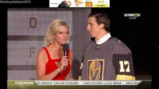 Download Marc Andre Fleury get an ovation by the Vegas Golden Knight fans during the draft expansion Video