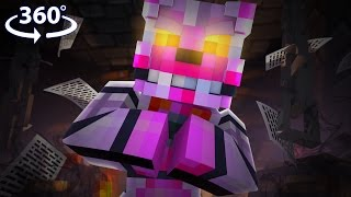 Download Five Nights At Freddy's - FUNTIME FOXY VISION! - 360° Minecraft Video Video