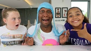 Download 3 COLORS OF GLUE SLIME WIG CHALLENGE!! Video