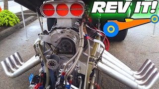 Download CRAZY LOUD DRAGSTER w/ Ice Cold Engine & Exhaust   LOUDEST Race Car at Sanford Sound Video