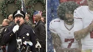 Download Cops and veterans team up to protest Kaepernick Video