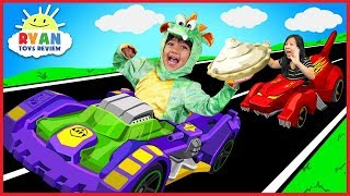 Download Ryan BECOMES A DRAGON with OSMO Hot Wheel™ MindRacers! Family Fun Loser gets Pie in the face! Video