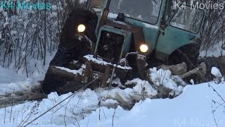 Download MTZ 82 , Road freezing in forest ,4x4 , Winch power Video