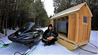 Download Snowmobile Camper / Winter Sled Shelter / Log Cabin Update- Ep 11.3 Video