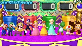 Download Mario Party 10 - All Characters Coin Challenge Gameplay Video