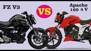 Download Apache 160 RTR 4v VS FZ Fi V3 ABS Which Is Best In All Features Video
