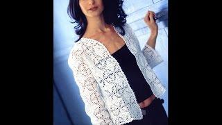 Download Вязаная кофта с квадратов Кофточка крючком. Сrochet blouse Video