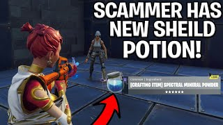 Download Scammer With Brand New Potion Scams Himself! (Scammer Gets Scammed) Fortnite Save The World Video