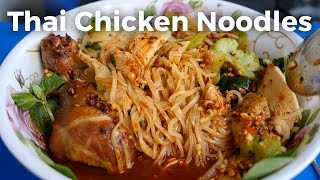 Download Thai Chicken Noodles (ก๋วยเตี๋ยวไก่) - Thai Street Food Bicycle in Bangkok! Video