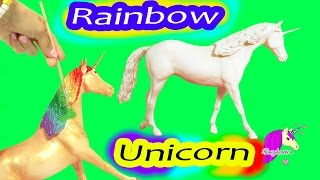 Download Custom Painting Rainbow Unicorn Breyer Classic Model Horse - Honeyheartsc Video Video