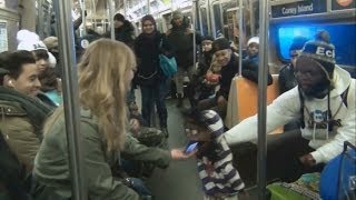 Download Ventriloquist Picking Up Girls On The Subway(Part 1) Video
