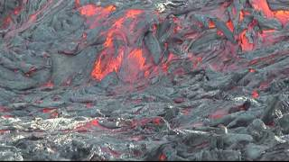 Download Red hot lava battles snow as volcano erupts Video