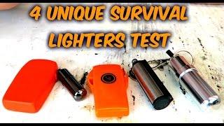 Download 4 Unique Survival Lighters Test Video