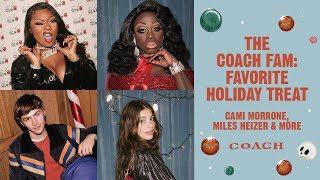 Download The Coach Fam: Favorite Holiday Treat | Cami Morrone, Miles Heizer & More Video