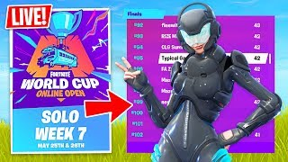 Download Fortnite WORLD CUP QUALIFIER $1,000,000 Solo Tournament! (Fortnite Battle Royale) Video