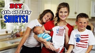 Download DIY 4th of July Shirts!! Winston's first craft!! Video