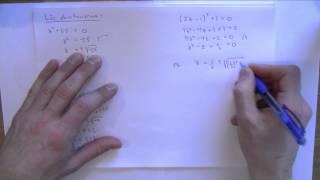 Download Matematik 4 - Komplexa tal del 1 - Intro och enkla ekvationer Video