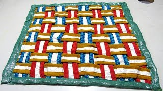 Download मिनटों में बनाएं ये सुन्दर पायदान घर पर पड़ी पुरानी चीज़ों से paydan banana | Door mat Video