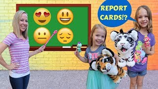 Download Addy and Maya Earn Extra Credit at Fake Toy School !!! Video