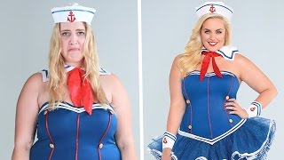 Download Plus-Size Women Try On One-Size Halloween Costumes Video