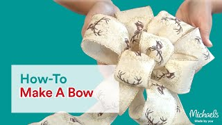 Download How to Make a Bow | DIY Holiday | Michaels Video